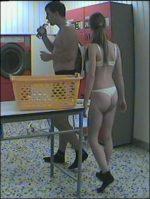 Handjob im Waschsalon
